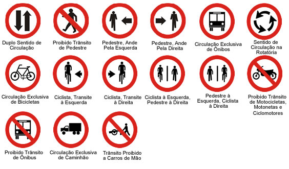 placa de regulamentação de trânsito